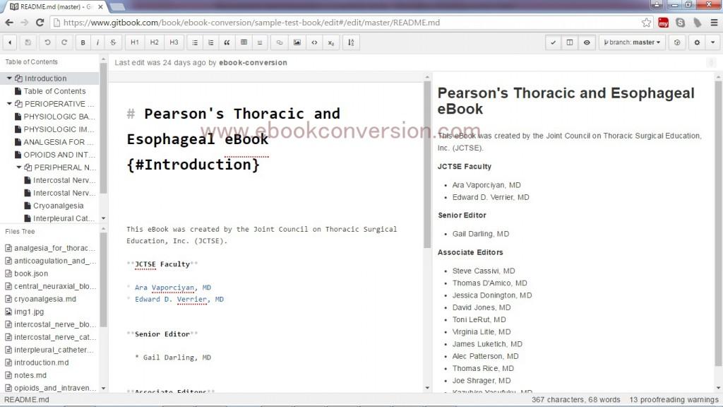 Gitbook ebook Conversion Services