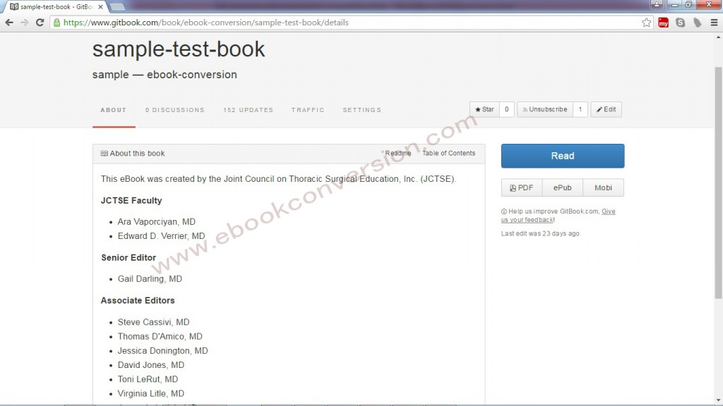 Gitbook ebook sample