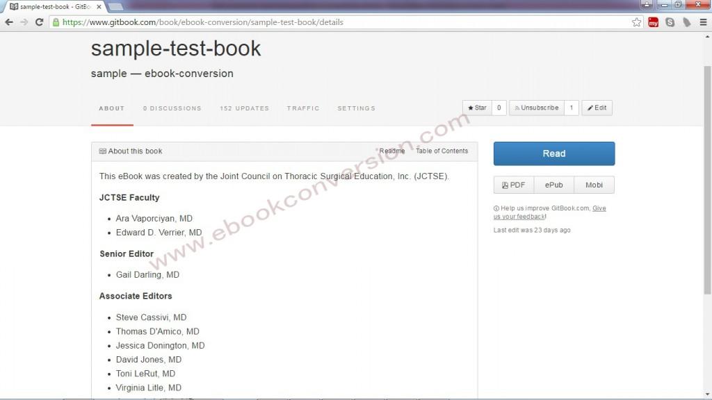 Gitbook ebook sample
