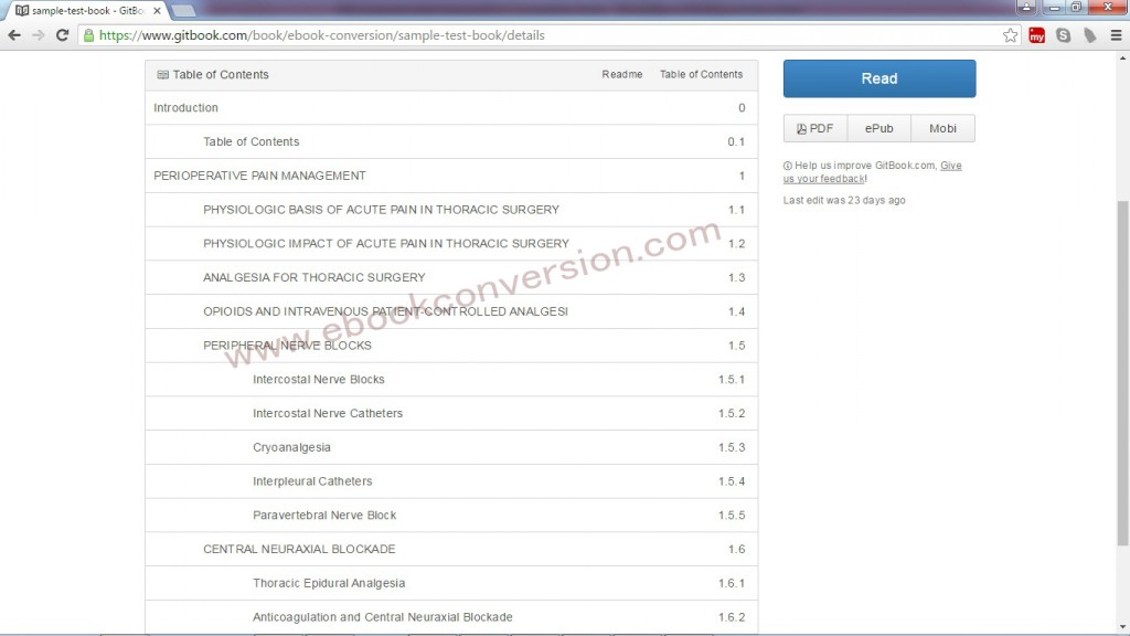 Gitbook Sample