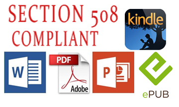 Accessibility Compliant Section 508 and WCAG PDF word Powerpoint